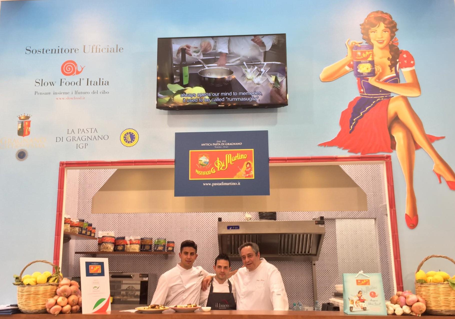 Lo stand di Pasta Di Martino a Tuttofood 2017